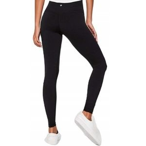 Lululemon Black Wonder Under Leggings Size 10
